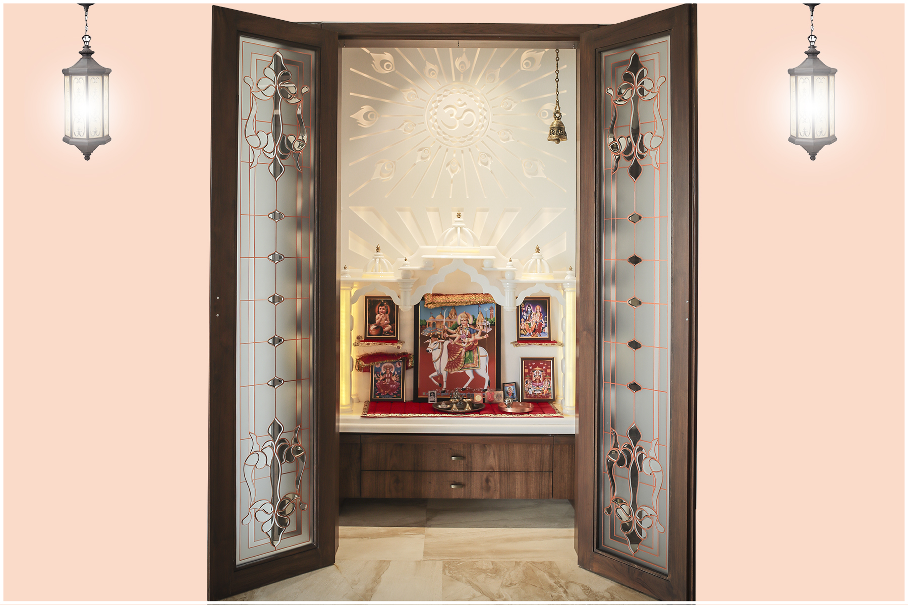 Temple Glass Amp Door Shree Rangkala Glass Design